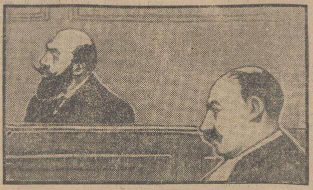 """LAndru in de beklaagdenbank volgens """"Rotterdams Nieuwsblad"""" 9-11-1921"""