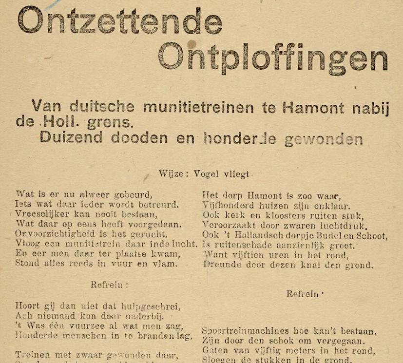 fragment liedblad Frans Rombauts
