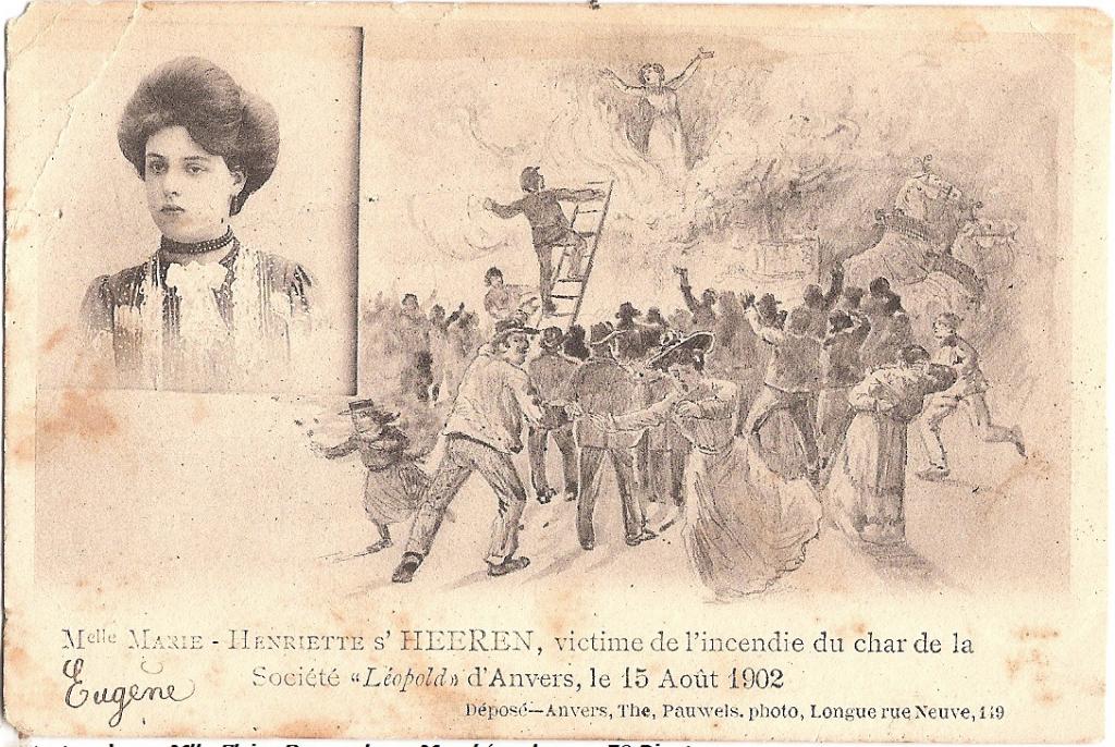 postkaart Martelaresse van Antwerpen