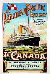 Poster van de Canadian Pacific Line - 1910